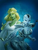Jarella and Caiera Color by Protokitty