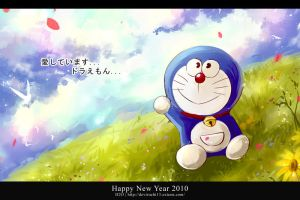Doraemon : Happy New Year 2010 by H2O-kun