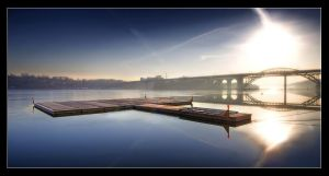 Morning Bridges by Basement127