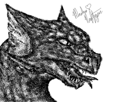 Another Dragon On MS Paint by Ice-Artz