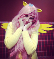 fluttershy cosplay by Sioxanne