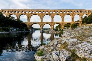 Pont du Gard - southwest side by CyclicalCore
