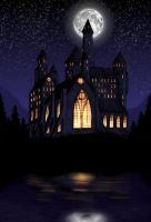 hogwarts at night by matted