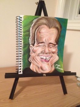 Process: Arnold Schwarzenegger Caricature 8 of 10 by AcrylicInk