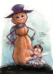 Frosty and Lily watercolor by danidraws