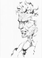 Solid Snake by Arkkus