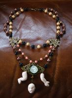 Freak circus doll necklace by xNatje