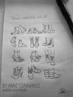 Shoes Reference Sheet 2 By Anne's Drawings. by AndreaDiosmary