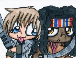Merle And Michonne by Violent-Rainbow