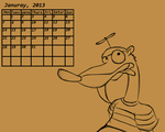 ~ Calendar- Stupid Weasel ~ by 200shadowfan