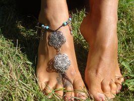 Hippie Barefoot Sandal by noisypixie