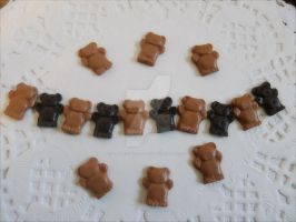 Chocolate bears in 1/6 by LittlestSweetShop