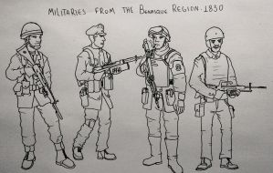 Militaries from the Benasque Region. 1830 by mcnipples
