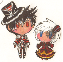 Chibi Lolita Lee and Phee by Razzl3erry