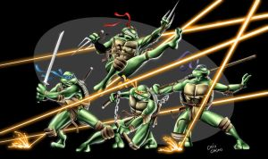 Teenage Mutant Ninja Turtles by caiocacau