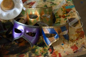 Masquerade Leather Masks by OsborneArts