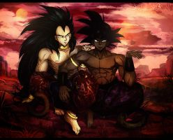 Raditz and Turles by Snow-Body