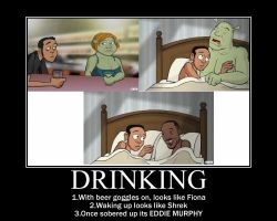 Drinking With Shrek by Mxrevolverstudios