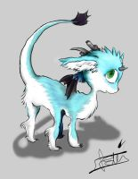 Electric Blue Neon Dragon by 99g3ny99