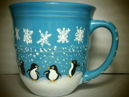 SALE! Penguins in the snow Now $20 - regular $30! by InkyDreamz