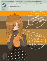 Question 1: Caramel Skin by Ask-Alicia-Caramel