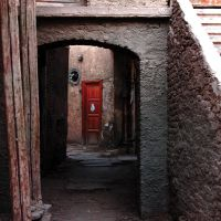 Behind the red Door by Campanile