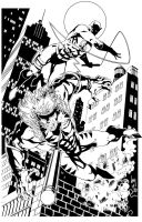 DareDevil vs Sabertooth by BDStevens