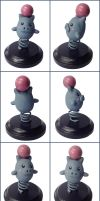 Spoink Sculpture by LeiliaClay