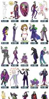 One Character Lineup : Joker by striffle