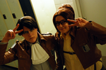 Levi and Hanji - Strike a pose! by mojs