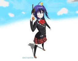 Rikka in the coulds by SC2Battousai