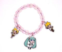 Vocaloid Glow-In-The-Dark Charm Bracelet by ShishoDesigns