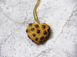 Chocolate Chip Heart Necklace by SweetSugaRush