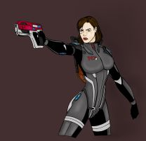 Female Commander Shepard by Herbie91