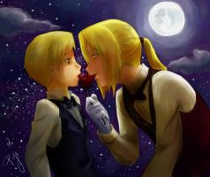 Moonlit Kiss by manabu-yangtze