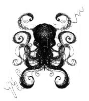 Ink Scratch Octopus 1 by Eseopia