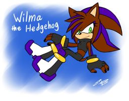 Wilma the hedgehog by SonicDnB