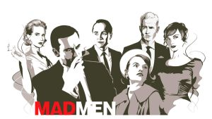 Mad Men cast by montgomeryq