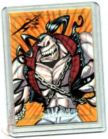 Pitt sketch card commission by skulljammer