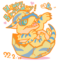 Happy Birthday to Tigrex! by mikeythesk8er