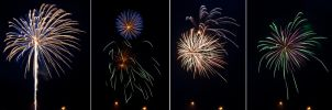 4th of July Fireworks Stock 12 by AreteStock