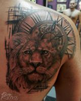 Lion with Clock by RobRuckus