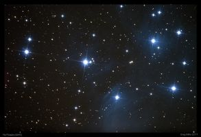 The Pleiades M45 by CapturingTheNight