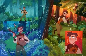Fantastic Tales of Nothing - Double Spread by fydraws