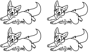 puppy adoptable base by neon-wolf-fun