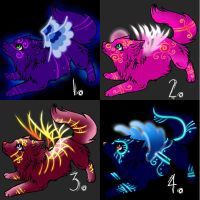 Winged Wolves Point Adopts. by Saerradopt