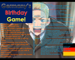 Germany's Birthday Game! by RockAlchemist105