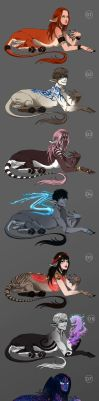 Sphinxes - character and art auction - CLOSED by akreon