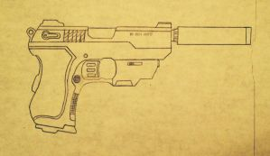Covert ops 10mm pistol by prodoomer1