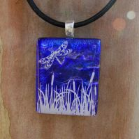 Dragonfly Pond Fused Glass by FusedElegance